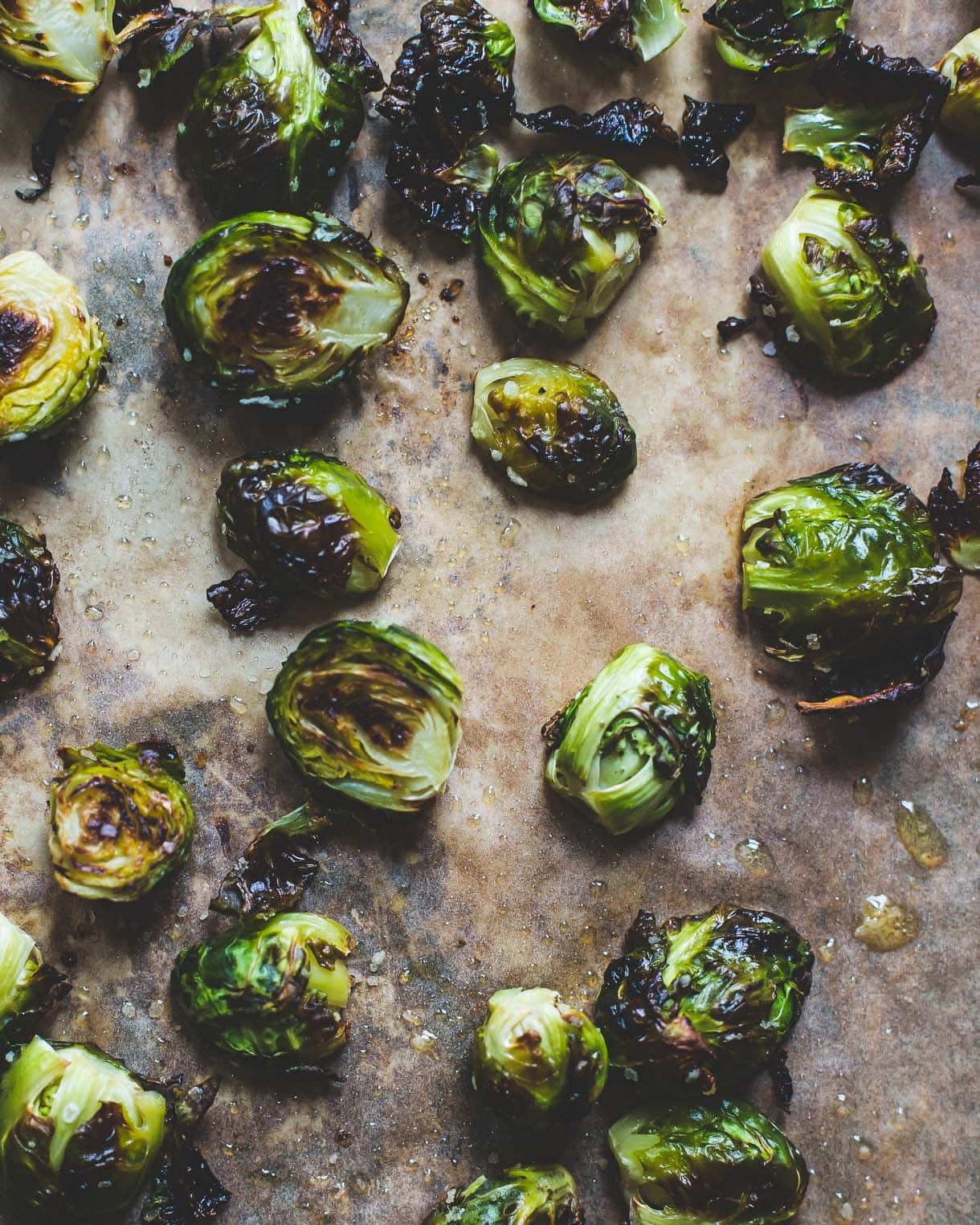 Roasted Brussels Sprouts with Tahini Sauce {paleo, vegan}