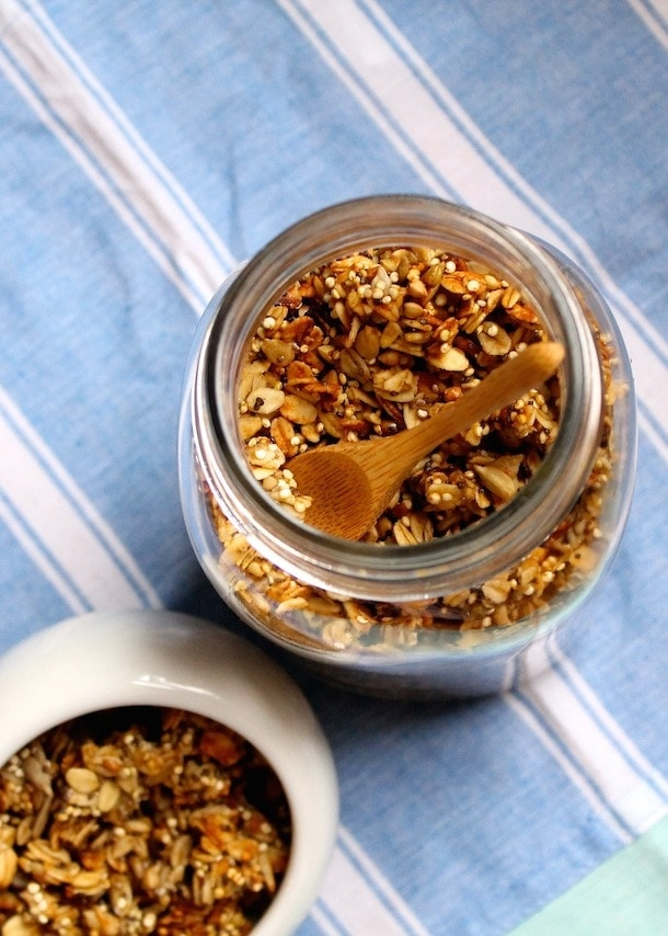 Refined Sugar Free Cinnamon Quinoa Granola (gluten-free)