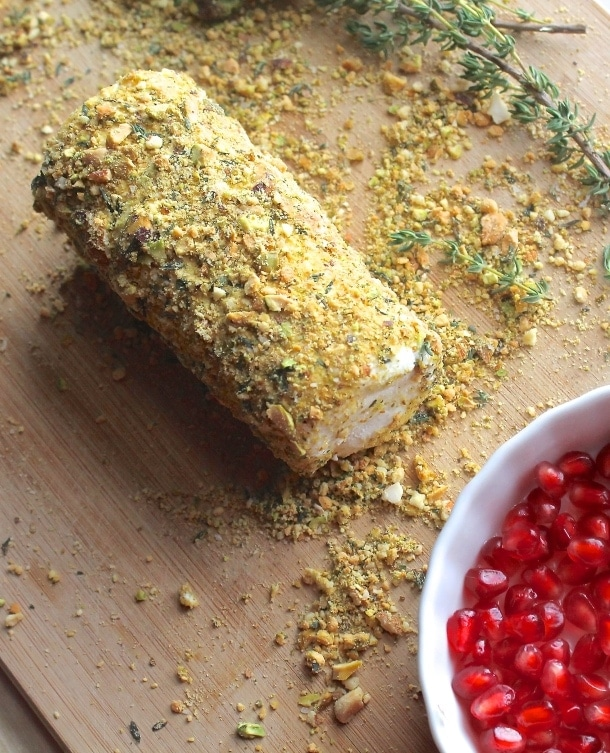 Pistachio & Herb Crusted Cheese Log