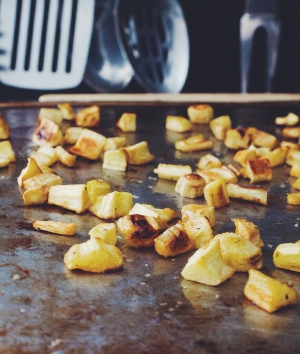 parsnip & garlic chive homefries | heartbeet kitchen