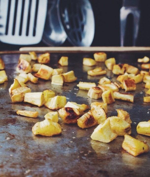 parsnip & garlic chive homefries | heartbeet kitchen
