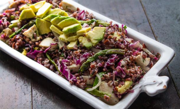 Black Rice Salad with Spring Vegetables