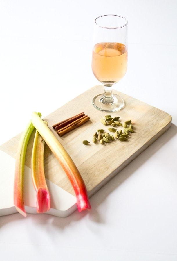 Savory Rhubarb Rosé Sauce | heartbeet kitchen