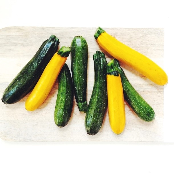 grilled summer squash and garlic scapes | heartbeet kitchen