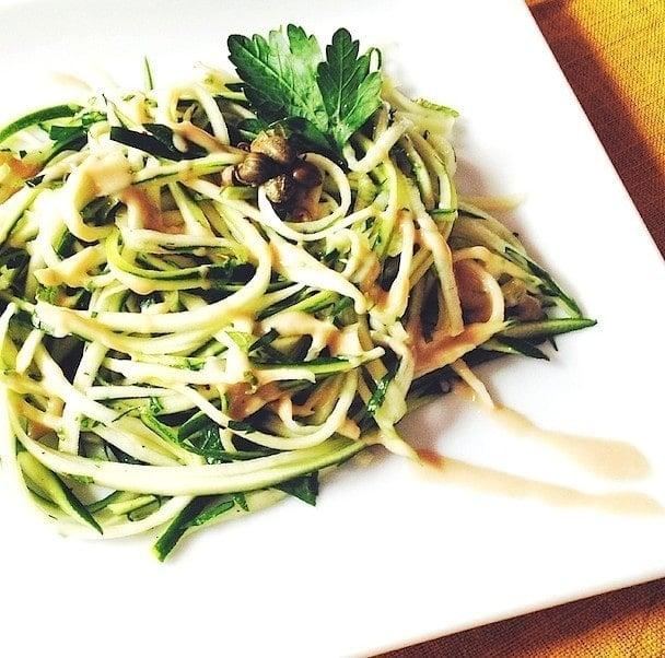 Zucchini Noodles with Fresh Herbs + Tahini   heartbeet kitchen