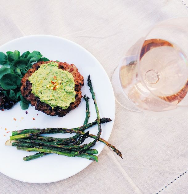 Alpaca Burger with Garlic Chive Pesto | heartbeet kitchen