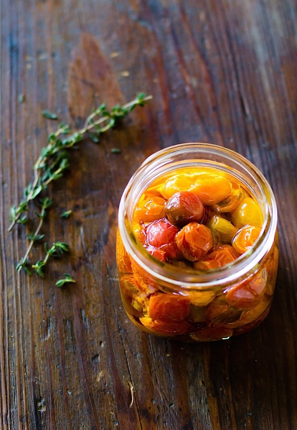 Slow Roasted Cherry Tomatoes Preserved in Olive Oil {heartbeet kitchen blog}