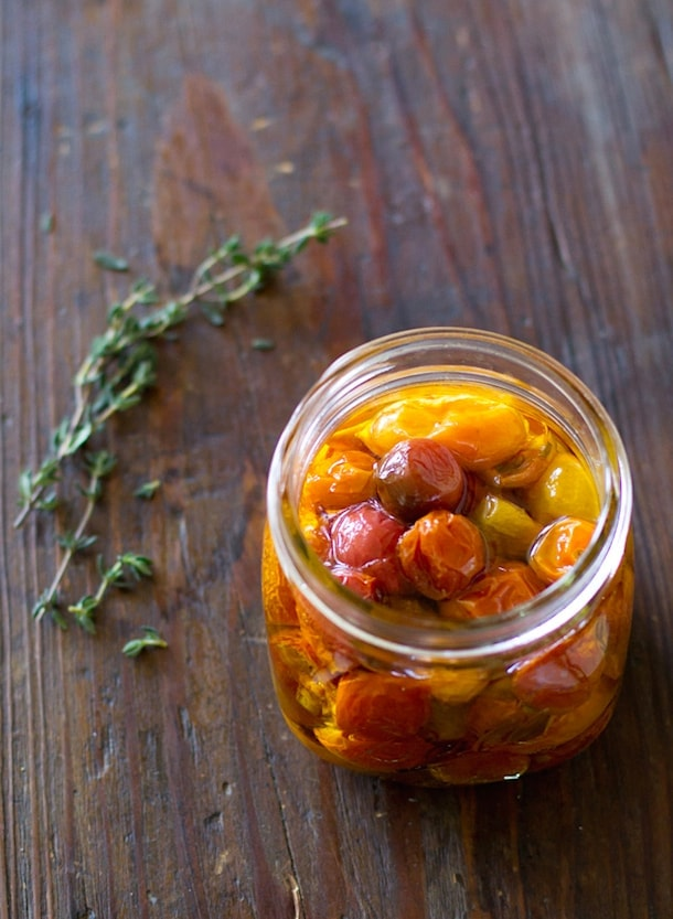 Roasted Cherry Tomatoes Preserved in Olive Oil | heartbeet kitchen