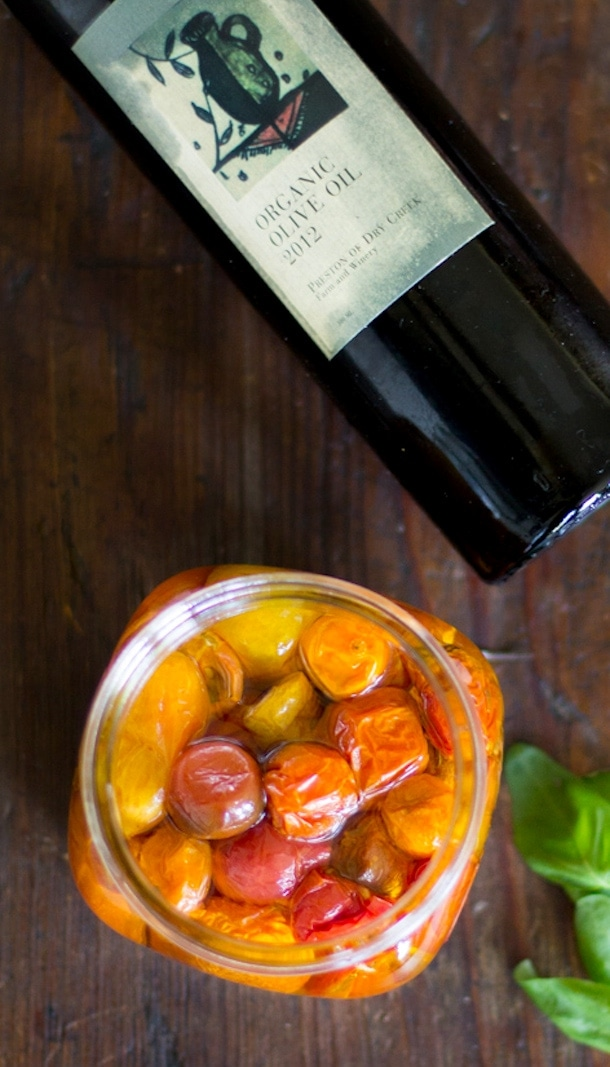 roasted heirloom tomatoes preserved in olive oil | heartbeet kitchen