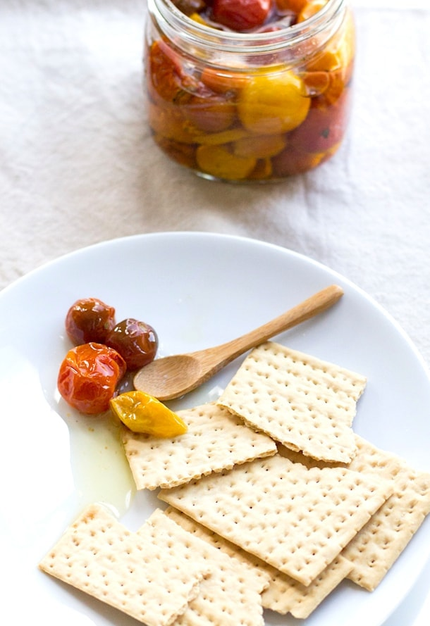 slow roasted cherry tomatoes preserved in olive oil | heartbeet kitchen