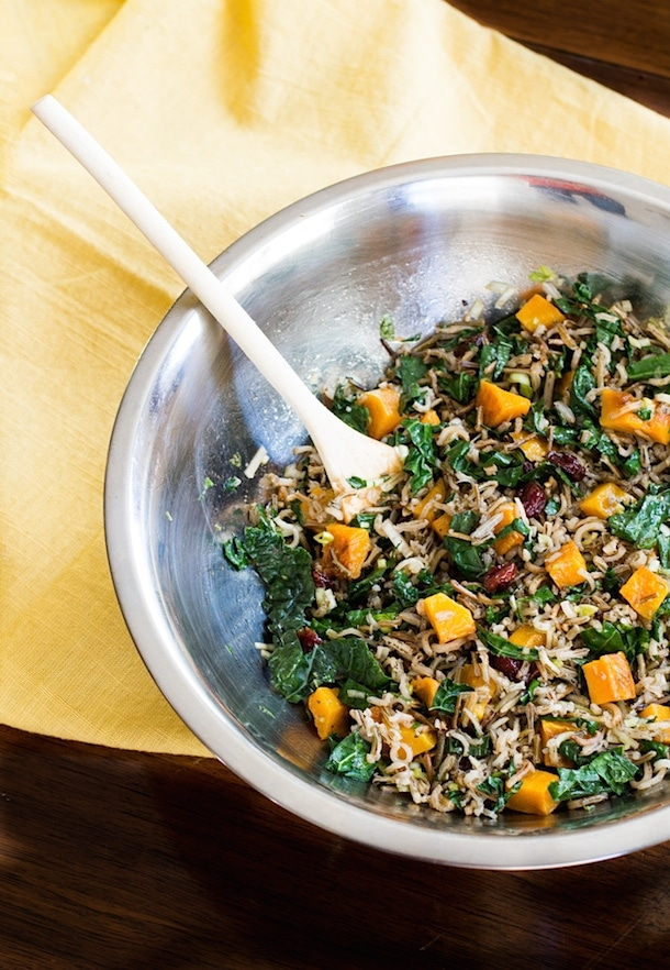 Fall Wild Rice & Butternut Squash Salad | heartbeet kitchen