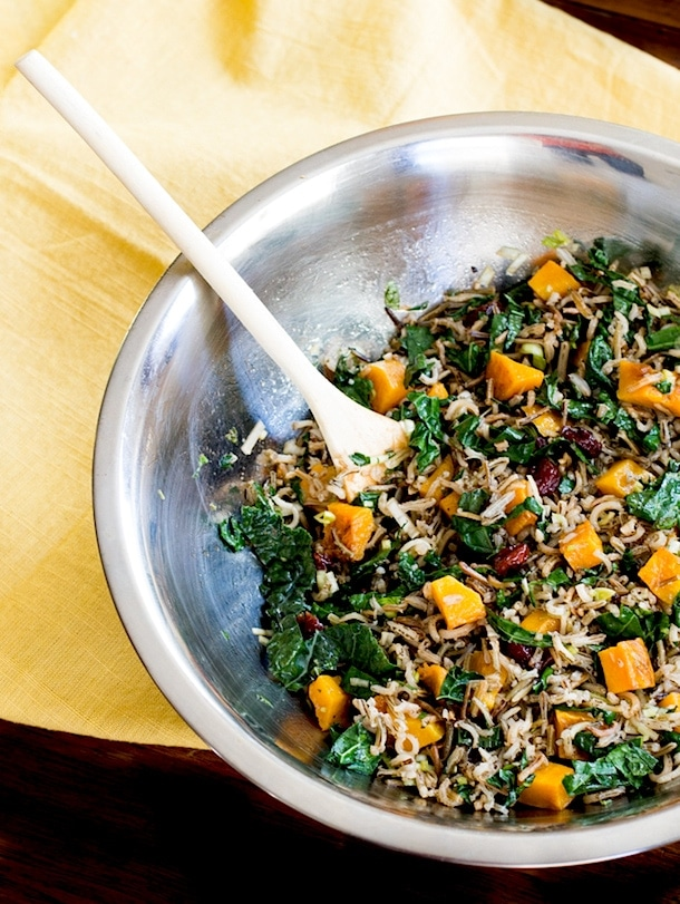 Wild rice and butternut squash salad with maple dressing wild rice butternut squash salad gf vegan forumfinder Images