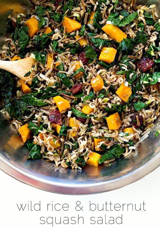 Wild Rice & Butternut Squash Salad {gf, vegan}