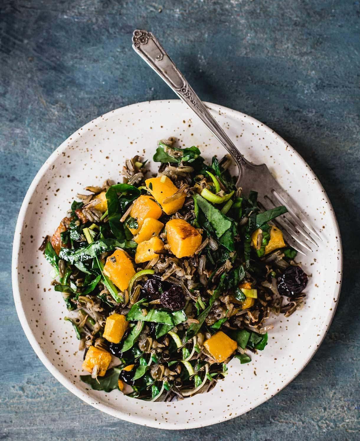 Butternut Squash & Wild Rice Salad