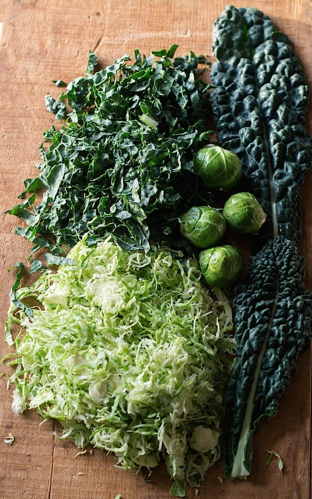 Shredded Brussels Sprouts & Kale