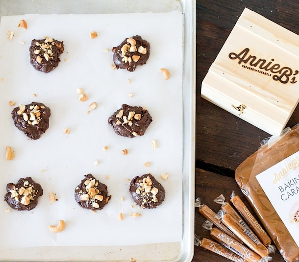 Caramel Cashew Chocolate Cookies with Annie B's Caramels ~ featured on Oprah's Favorite Things 2014