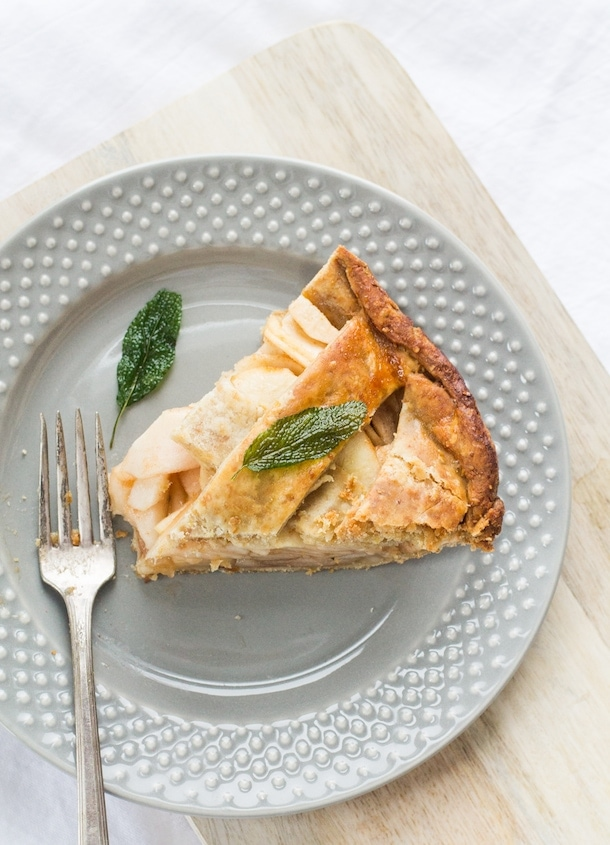 Gluten-Free Apple Pie with Crispy Sage | heartbeet kitchen