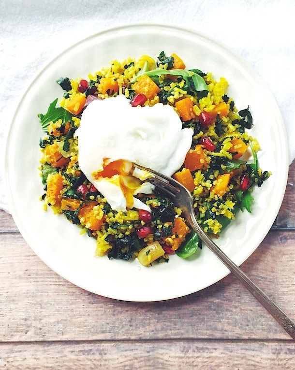 Jeweled Butternut Squash & Curry Pilaf | heartbeet kitchen