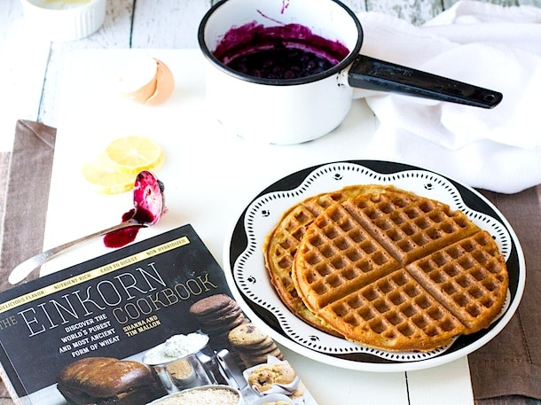 Simple Gluten-Free Waffles | adapted from the Einkorn Cookbook