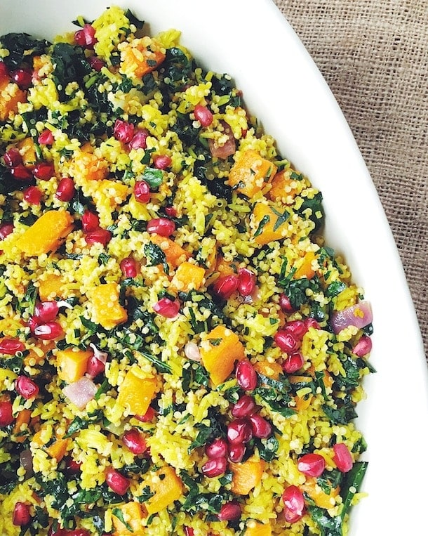 Winter Curry Pilaf with Butternut Squash & Pomegranates | heartbeet kitchen