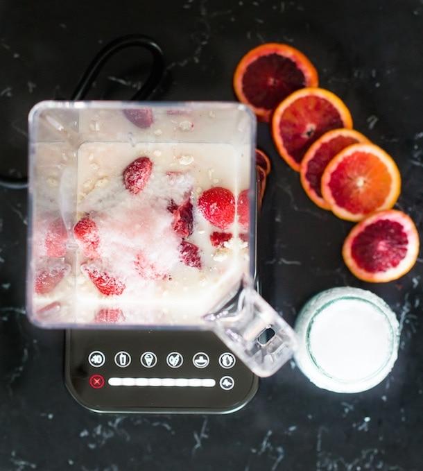 Blood Orange-Strawberry Coconut Smooth (vegan)