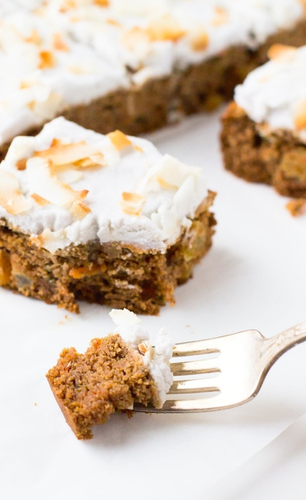 AIP/Paleo Carrot Cake with Whipped Coconut Frosting (nut-free too)
