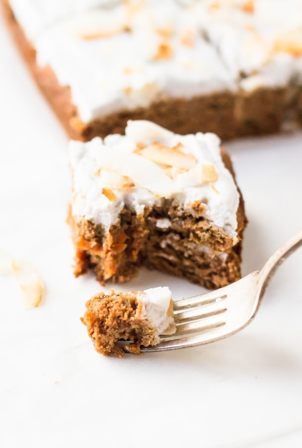 AIP/Paleo Carrot Cake with Whipped Coconut Frosting ~ so delicious, moist & full of flavor.