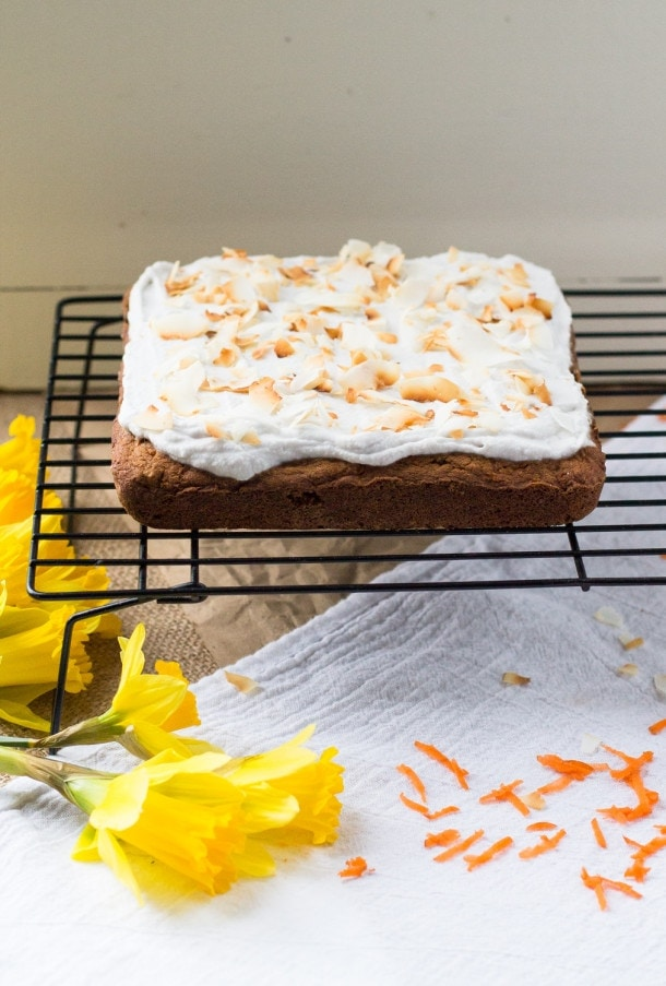 AIP Paleo Carrot Cake with Whipped Coconut Frosting