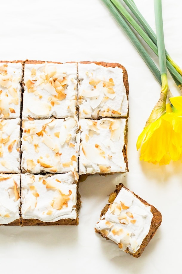 "AIP/Paleo Carrot Cake with Coconut Milk Whipped ""Cream"""