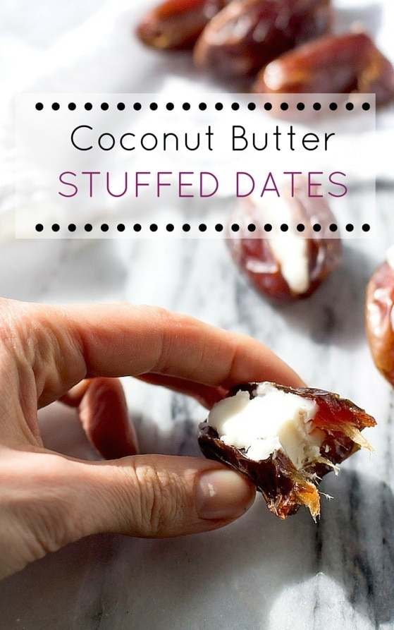 Coconut Butter Stuffed Dates ~ best 2 ingredient treat | AIP, Paleo