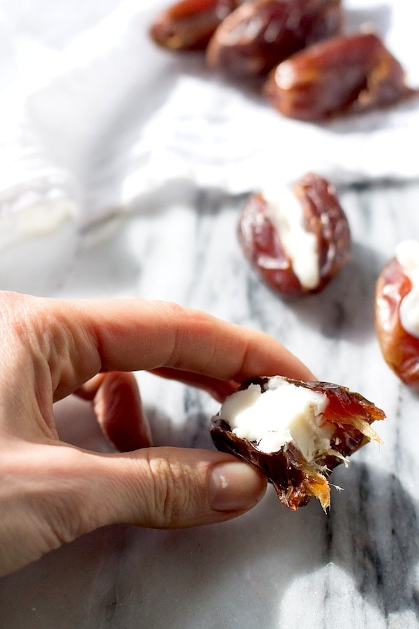 Coconut Butter Stuffed Dates - best 2 ingredient Paleo/AIP treat ever