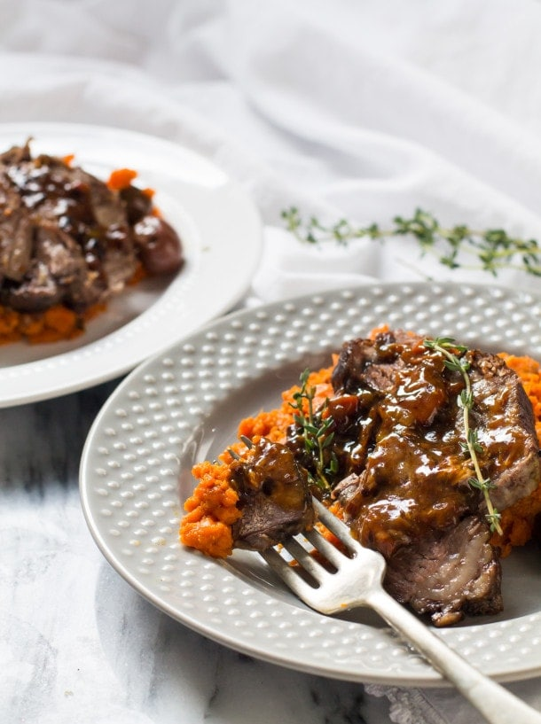 Slow Cooker Braised Beef Roast with Carrot Mash | easy one pot meal (paleo, AIP, gluten-free)