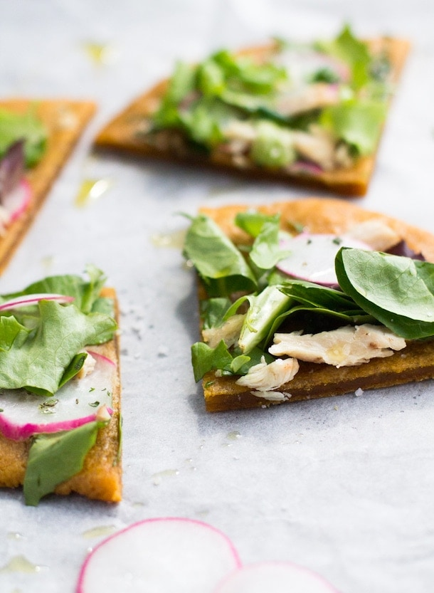 4 Ingredient AIP/Paleo Flatbread - the best! Soft texture, crisp edge.