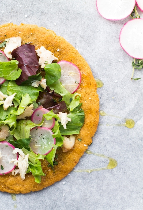 The Best AIP Flatbread, just 4 ingredients (vegan too)