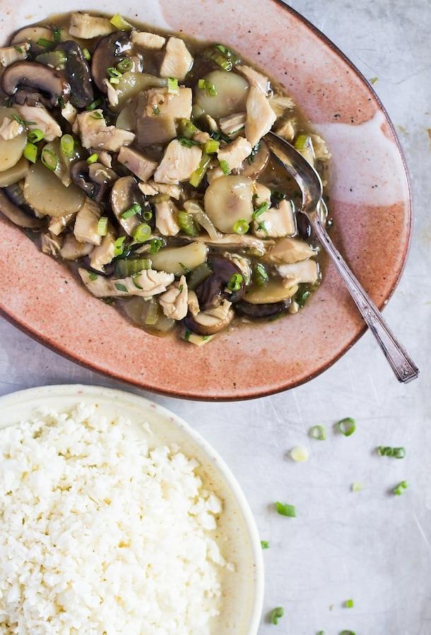 Paleo Chicken Chow Mein with Cauli Rice
