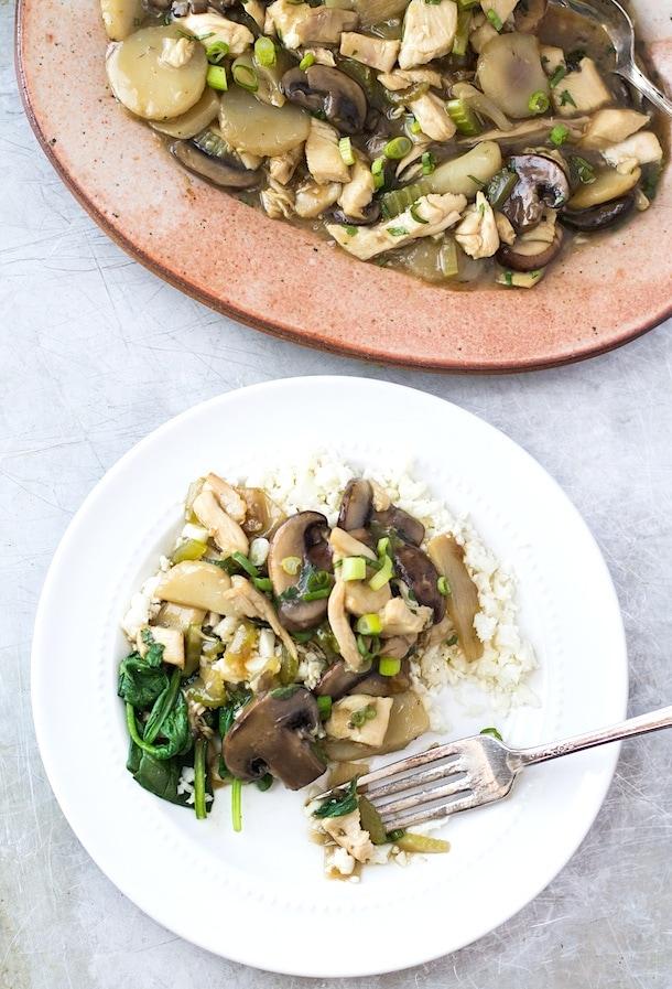 Paleo Chicken Chow Mein with Cauliflower Rice