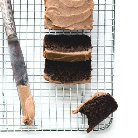 Chocolate Carob Cake with Date Caramel Spread (Paleo)