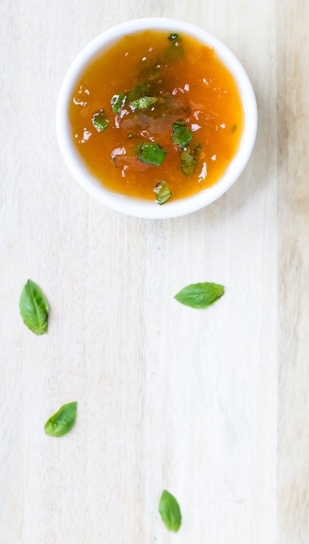 Apricot Basil Glaze ~ delicious on chicken or pork
