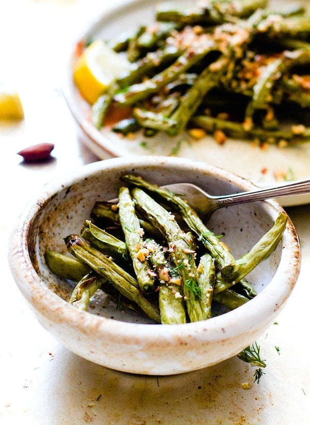 Blistered Green Beans with Crushed Almonds {via heartbeet kitchen}