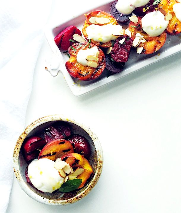 Grilled Peaches & Beets with Ricotta & Honey