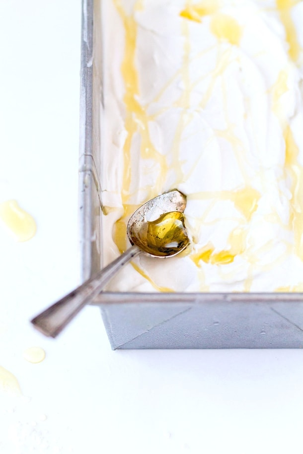 Salty Honey Ice Cream {dairy-free}