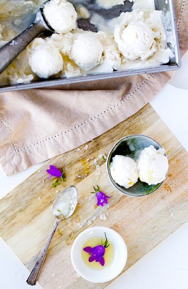 Salty Honey Coconut Milk Ice Cream {via heartbeet kitchen blog}
