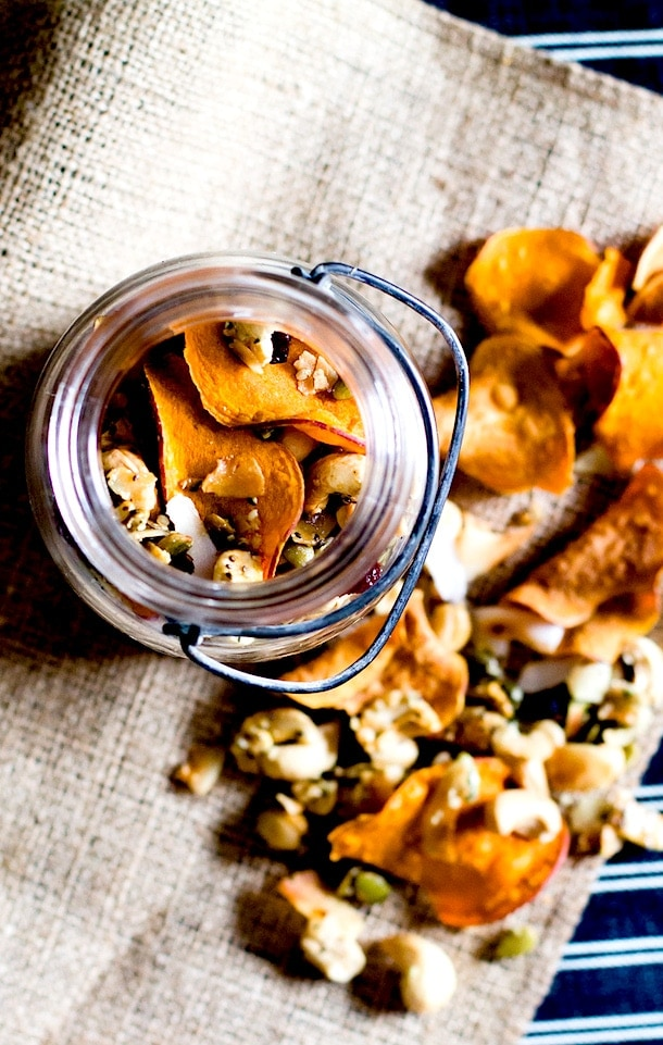 Coconutty Cashew Cluster & Sweet Potato Chip Snack Mix {paleo}