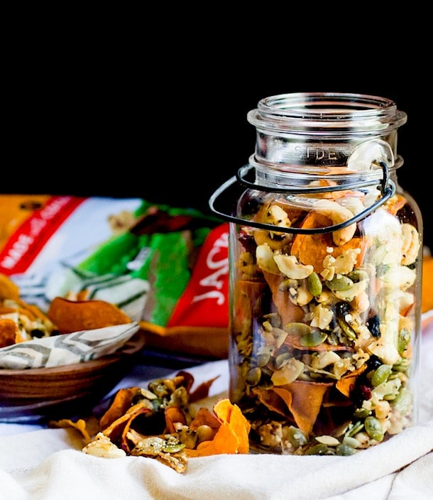 Sweet Potato Chip & Honey Nut Cluster Snack Mix