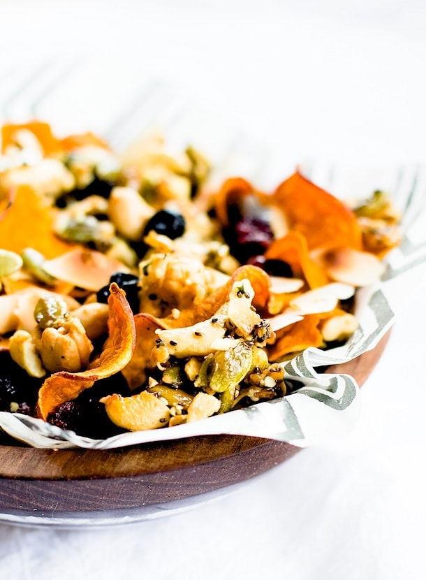 Sweet Potato Chip & Honey Nut Cluster Trail Mix {paleo}