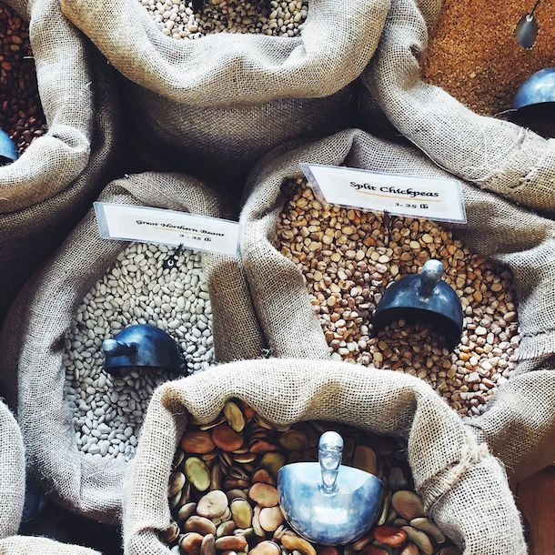 Bulk Beans at Mediterranean Deli & Catering ~ Chapel Hill. A must visit place.