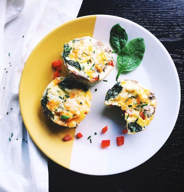 Veggie & Egg Muffin Cups, like mini frittatas