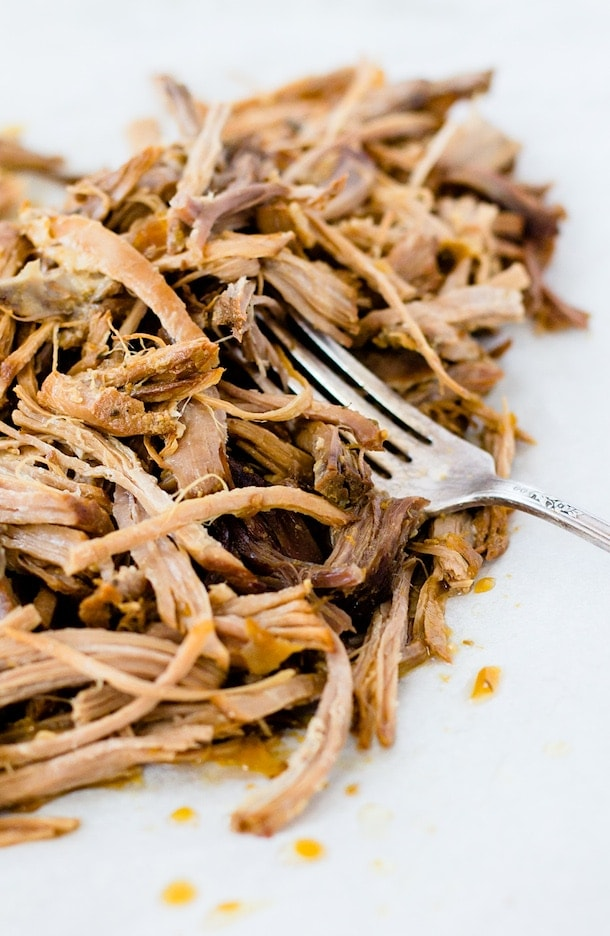 Juicy, Citrus Shredded Pork, slow-cooker option {paleo, gluten-free}