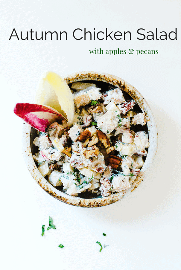 Autumn Chicken Salad with Apples & Pecans {recipe}