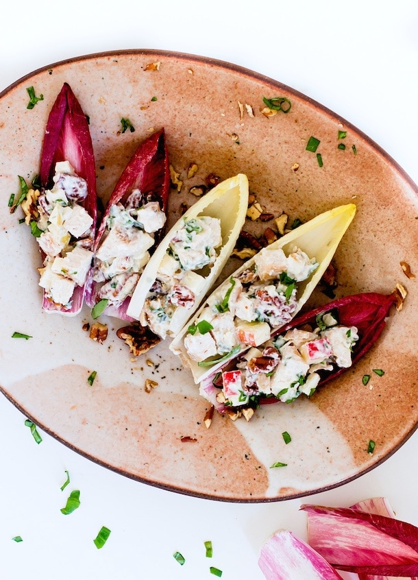 Endive Boats with Fall Chicken Salad {gluten-free}